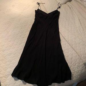 J.crew black spaghetti strap tie dress